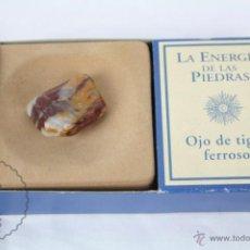 Coleccionismo de minerales: MINERAL / PIEDRA DE COLECCIÓN / FASCÍCULO LA ENERGÍA DE LAS PIEDRAS - OJO DE TIGRE FERROSO. Lote 48807044