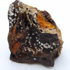 Coleccionismo de minerales: PIEZA DE CALCITA SOBRE GOETHITA Y LIMONITA. MINA TRINIDAD (BENALMÁDENA, MÁLAGA). Lote 51202508