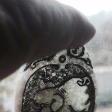 Coleccionismo de minerales: AMULETO DE JADE ANTIGUO .PRECIOSOS RELIEVES REPRESENTA EL CERDO LABRADA A MANO. Lote 53232714