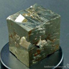 Coleccionismo de minerales: CUBO DE PIRITA CON VARÍAS PIRITAS MACLADAS - RARO - ESPAÑA. Lote 136604058