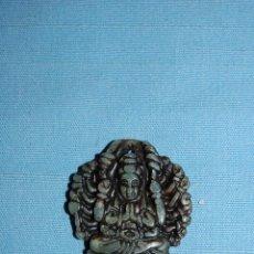 Coleccionismo de minerales: AMULETO COLGANTE EN JADE REPRESENTACIÓN BUDA. Lote 57055948