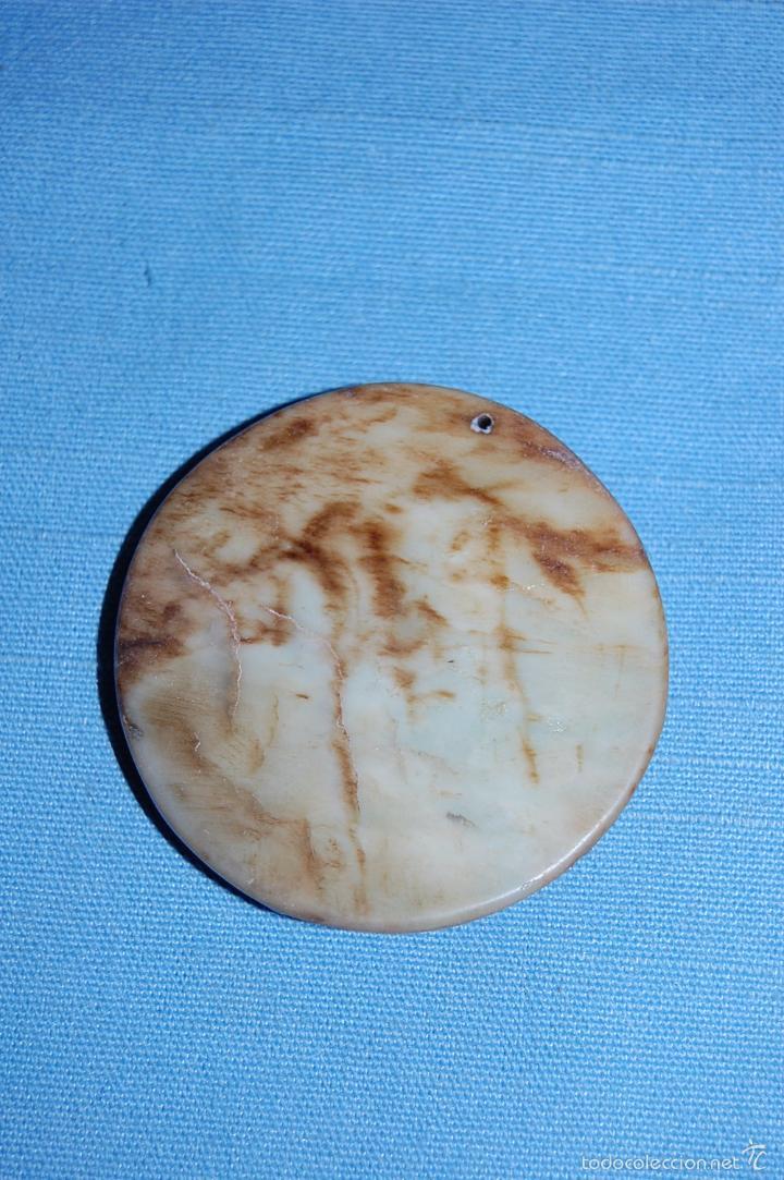 Coleccionismo de minerales: COLGANTE AMULETO EN JADE BUDA MEDITANDO DE 5 CM DIAMETRO - Foto 2 - 57232593