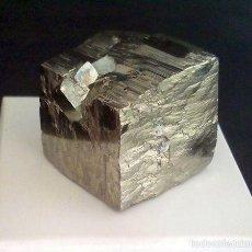 Coleccionismo de minerales: PIRITAS - CUBO DE PIRITA CON MACLA - ESPAÑA . Lote 107378684