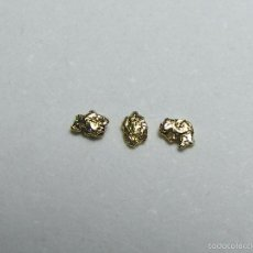 Coleccionismo de minerales: FD MINERALES: LOTE DE 3 PEPITAS DE ORO NATIVO - PORCUPINE CREEK - ALASKA - ORO 106. Lote 58244357