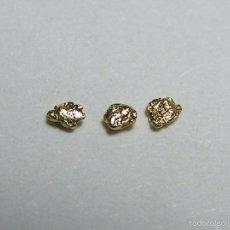 Coleccionismo de minerales: FD MINERALES: LOTE DE 3 PEPITAS DE ORO NATIVO - PORCUPINE CREEK - ALASKA - ORO 108. Lote 58244486