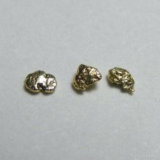 Coleccionismo de minerales: FD MINERALES: LOTE DE 3 PEPITAS DE ORO NATIVO - PORCUPINE CREEK - ALASKA - ORO 109. Lote 58244512