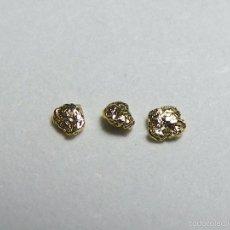 Coleccionismo de minerales: FD MINERALES: LOTE DE 3 PEPITAS DE ORO NATIVO - PORCUPINE CREEK - ALASKA - ORO 110. Lote 58244598
