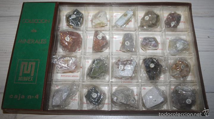 COLECCIÓN DE MINERALES MINPEX - 20 MINERALES - CAJA 4 (Coleccionismo - Mineralogía - Otros)