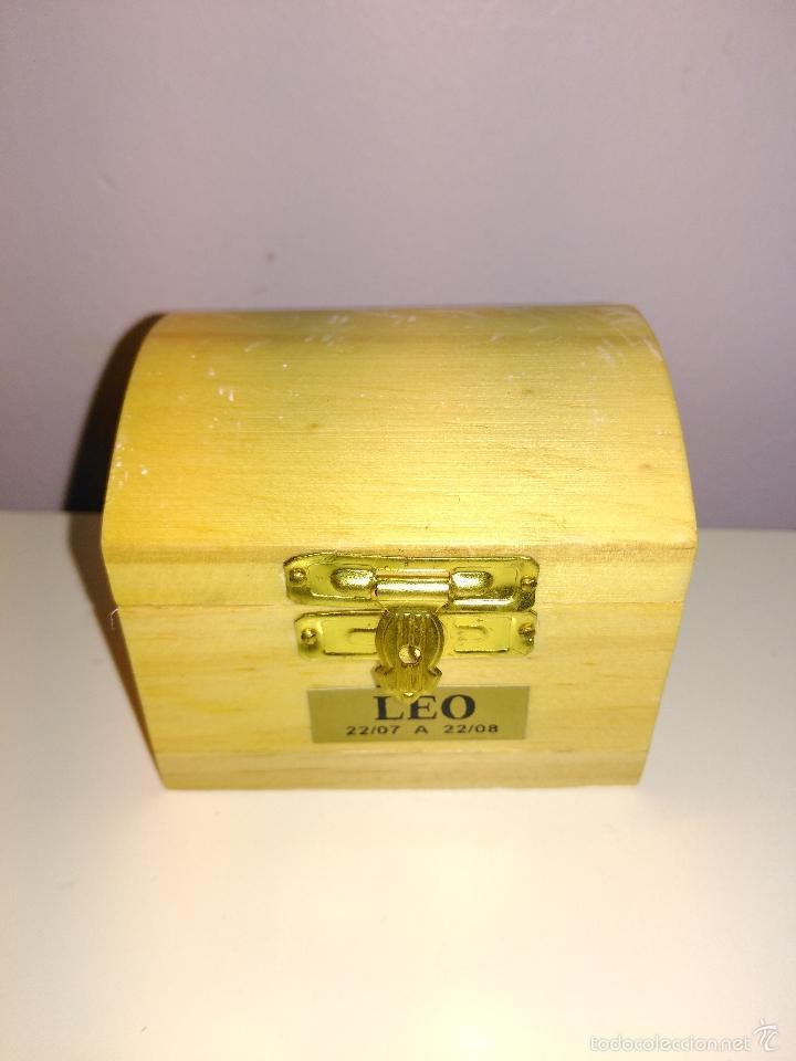 Coleccionismo de minerales: Pequeño cofre con piedra cornalina. piedra del signo LEO. MADE IN BRASIL. - Foto 2 - 58301602