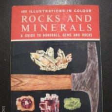 Coleccionismo de minerales: LIBRO ROCKS AND MINERALS 400 ILLUSTRATIONS IN COLOUR. Lote 61138951