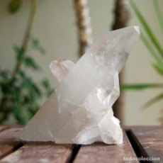 Coleccionismo de minerales: IMPRESIONANTE PUNTA DE CUARZO TRANSPARENTE. Lote 67522817