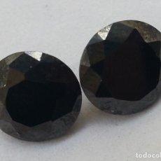 Coleccionismo de minerales: PAREJA PIEDRAS CRISTAL FACETADO . TIPO DIAMANTES NEGROS CIERRE DE COMPRO ORO Y PLATA. Lote 69281361