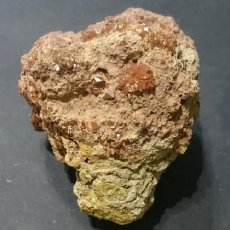 Coleccionismo de minerales: ARAGONITO. MACLAS SOBRE MATRIZ DE TIERRA. MINGLANILLA, CUENCA.PESO 450 GRAMOS. DIMENSIONES: 90 X 80 . Lote 69995313