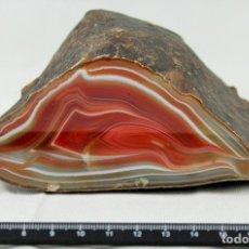 Coleccionismo de minerales: ÁGATA PULIDA. YACIMIENTO 'LA LIMEÑA' ARTIGAS. URUGUAY. PESO 1.231 GR. DIMENSIONES 130 X 70 X 100 MM. Lote 71426853