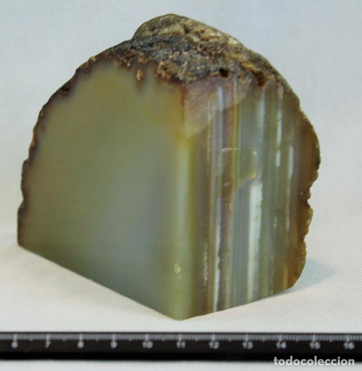 Coleccionismo de minerales: Ágata pulida (Tres caras). Yacimiento La Limeña Artigas,Uruguay. 100 x 90 mm. Peso 1.132 gr. - Foto 2 - 69902569