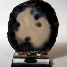 Coleccionismo de minerales: GEODA DECORATIVA DE ÁGATA AZUL. Lote 232603565