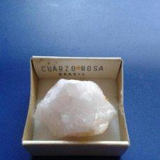 Coleccionismo de minerales: CAJA COLECCION CAJITA MINERAL CUARZO ROSA BRASIL. Lote 72455919