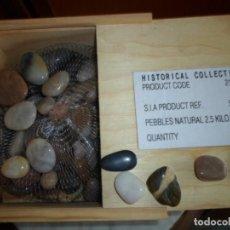 Coleccionismo de minerales: HISTORICAL COLLECTION - SYNERGIE - ESTUCHE EN MADERA CON COLECCIÓN DE 2,5 KILOS DE PIEDRAS NATURALES. Lote 73528695