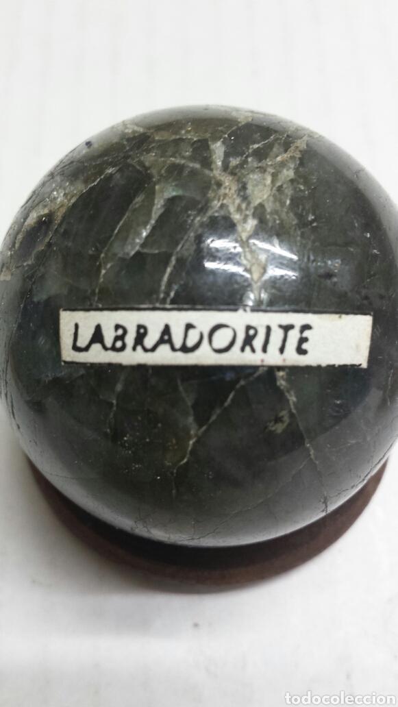 GEMA BOLA PULIDA LABRADORITE (Coleccionismo - Mineralogía - Otros)