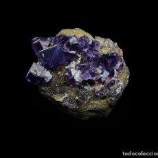 Coleccionismo de minerales: *** PRECIOSA Y ESCASA FLUORITA MORADA. MINE DE BERBES, ASTURIAS ***. Lote 80372665