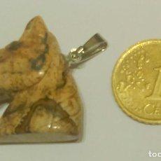 Coleccionismo de minerales: COLGANTE BUSTO DE CABALLO PIEDRA MINERAL MACIZO EN TONOS MARRONES ÁRIDOS *** A ESTRENAR ***. Lote 85092848