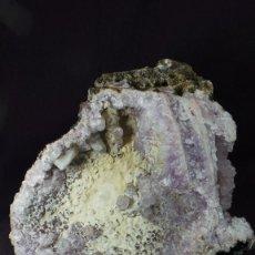 Coleccionismo de minerales: GEODA NATURAL-DE CUARZO AMATISTA - MARRUECOS # 1. Lote 85226504