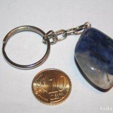 Coleccionismo de minerales: LLAVERO LAPISLAZULI *** PIEDRA MINERAL NATURAL *** PEDIDO MINIMO 5 € *** ARTÍCULO IMPECABLE . Lote 85854932