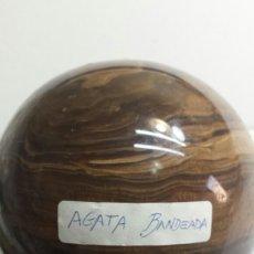 Coleccionismo de minerales: ESPECTACULAR GRAN GEMA - MINERAL AGATA BANDEADA. Lote 93072537