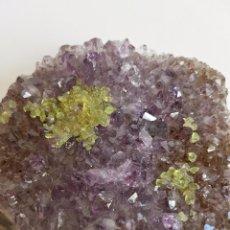 Coleccionismo de minerales: BONITA GEODA AMATISTA CON FLUORITA. BUEN TAMAÑO. Lote 93260830