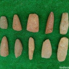 Coleccionismo de minerales: LOTE DE 10 HACHAS DEL NEOLITICO. Lote 93741965