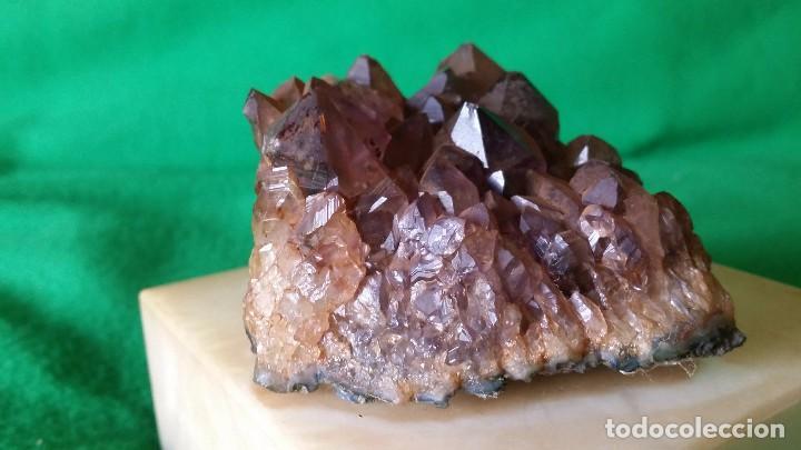 Coleccionismo de minerales: Amatista Natural Sobre Base de Marmol - Foto 2 - 97072391