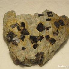 Coleccionismo de minerales: PIRITAS LIMONITIZADAS EN MATRIZ 850GR. Lote 133423721