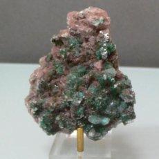 Coleccionismo de minerales: MALAQUITA SOBRE EPIDOTA MIDE 7,5 X 5 CM.. Lote 102649719