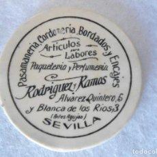 Coleccionismo de minerales: ANTIUO ESPEJO DE BOLSO PUBLICIDAD COMERCIO DE SEVILLA. Lote 106962479
