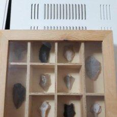 Coleccionismo de minerales: 10 PUNTAS DE LANZAS Y FLECHAS.CON SU CORRESPONDIENTE MUESTRARIO. Lote 107032835