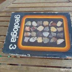Coleccionismo de minerales: COLECCION DE MINERALES GEOLOGIA 3 LIBRITO EN PORTUGUES JUEGO. Lote 108701971