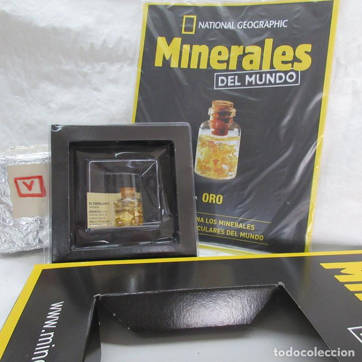 ORO 22 KILATES NATIONAL GEOGRAFIC (Coleccionismo - Mineralogía - Otros)