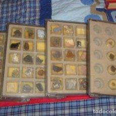 Coleccionismo de minerales: LOTE DE 67 PIEDRAS/MINERALES EN 4 CAJAS ARCHIVADORAS. Lote 110562411