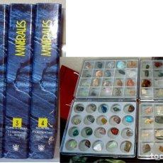 Coleccionismo de minerales: MINERALES - 4 ARCHIVADORES + 4 ESTUCHES CON MINERALES - RBA 1110 PÁGINAS - VER DESCRIPCIÓN Y FOTOS. Lote 110737967