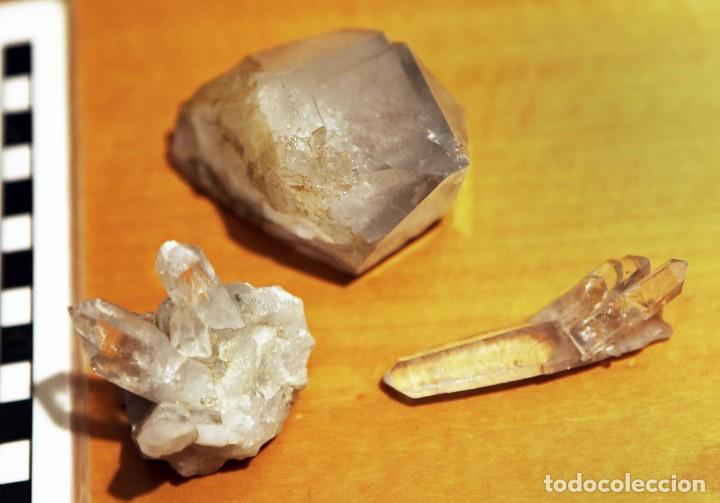 Coleccionismo de minerales: 3 cuarzos de mediano tamaño. Excelente calidad - Foto 5 - 111518923