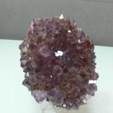 Coleccionismo de minerales: ESPECTACULAR DRUSA DE AMATISTA ( BRASIL ) MEDIDAS 9 X 8 CM.. Lote 112470883
