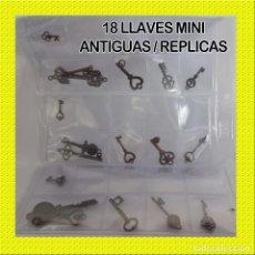 Coleccionismo de minerales: LLAVES MINI ANTIGUAS REPLICAS. Lote 115169051