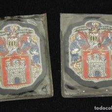 Coleccionismo de minerales: ESCUDO IRUN (TEXTIL BORDADO) 2 UDS. Lote 115220603