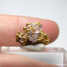 Coleccionismo de minerales: FD MINERALES: ORO NATIVO EN CUARZO - CASAS DON PEDRO - BADAJOZ - ESPAÑA - 3.04 GRAMOS - ORO41. Lote 115251063