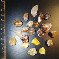 Coleccionismo de minerales: 20 PIEZAS DE AMBAR DEL BALTICO MUY BUEN TAMAÑO. Lote 208412838