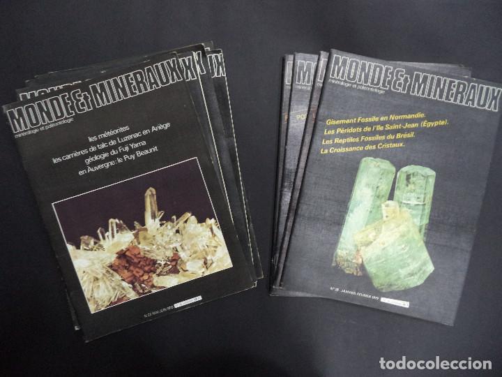 55 REVISTAS - MONDE & MINÉRAUX MINÉRALOGIE PALÉONTOLOGIE GÉOLOGIE- CURIOSO CONJUNTO (Coleccionismo - Mineralogía - Otros)