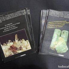 Coleccionismo de minerales: 55 REVISTAS - MONDE & MINÉRAUX MINÉRALOGIE PALÉONTOLOGIE GÉOLOGIE- CURIOSO CONJUNTO. Lote 118021879