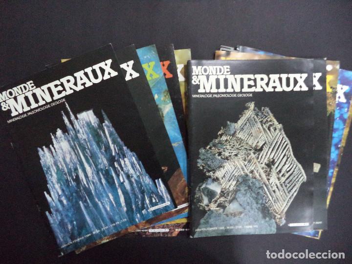 Coleccionismo de minerales: 55 Revistas - Monde & Minéraux Minéralogie Paléontologie Géologie- curioso conjunto - Foto 4 - 118021879