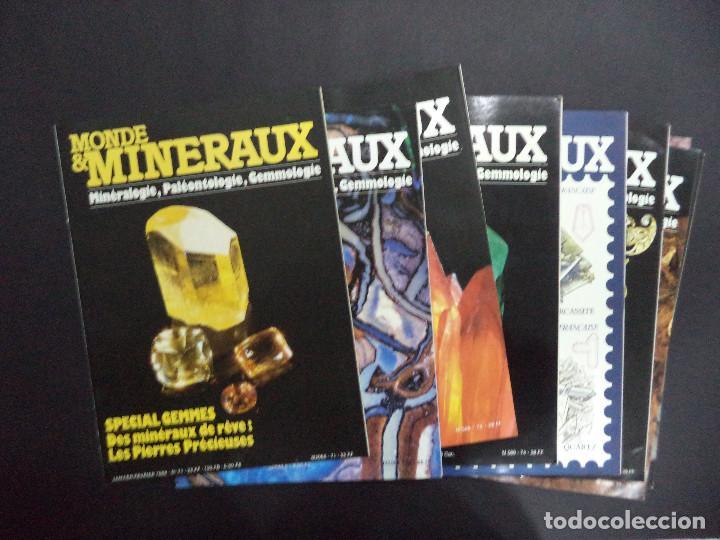 Coleccionismo de minerales: 55 Revistas - Monde & Minéraux Minéralogie Paléontologie Géologie- curioso conjunto - Foto 5 - 118021879