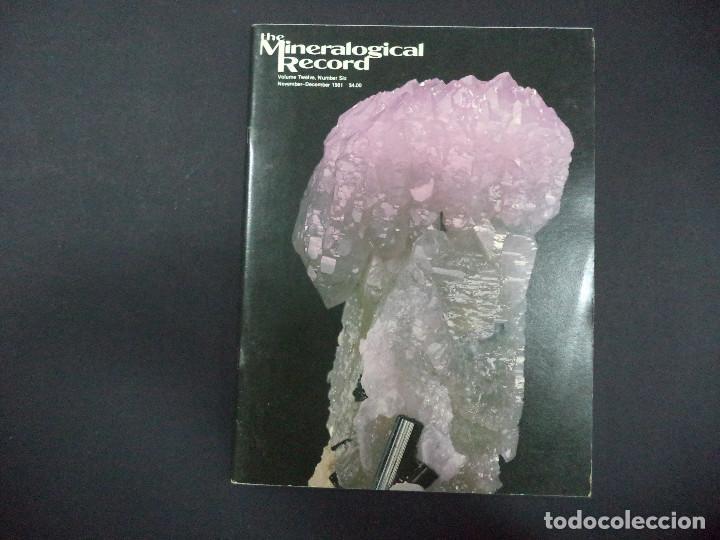 Coleccionismo de minerales: 6 revistas Mineralogical Record -1981 - Ano Completo - Foto 6 - 118022523